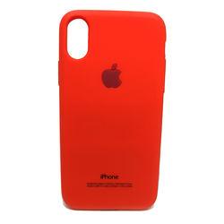 Capa para iPhone X e XS de Silicone - Símbolo Apple