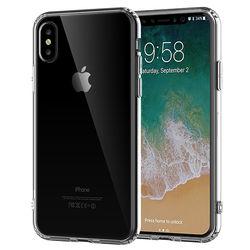 Capa para iPhone X e XS de TPU Casca de Ovo - Transparente