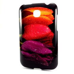 Capa para LG Optimus L3 Dual E405 de TPU - Rosas