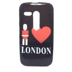 Capa para Motorola Moto G de TPU - I Love London