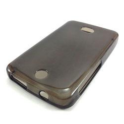 Capa para Nokia Asha 501 de TPU - Preto Transparente