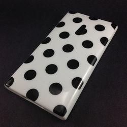 Capa para Nokia Lumia 800 de TPU - Petit Poa Branco com Preto