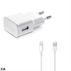 Carregador de Parede e Cabo de Dados USB para iPad de 2A - Branco | KinGo