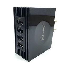 Carregador de Tomada com 4 Entradas USB - Kingo Preto