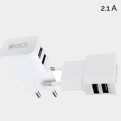 Carregador Dual USB 2.1A. | Branco