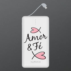 Carregador Portátil Power Bank 13.000mAh - Amor e fé.