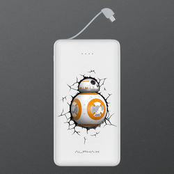 Carregador Portátil Power Bank 6.000mAh - Star Wars | BB8