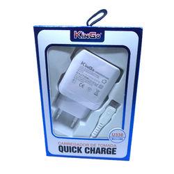 Carregador Turbo com Cabo de Dados Micro USB  - Kingo | Branco