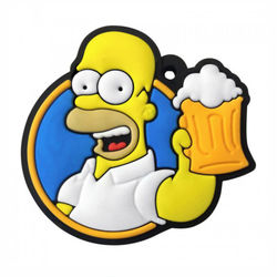 Chaveiro Emborrachado - Homer Simpson