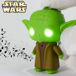 Chaveiro Star Wars com LED e Som | Yoda