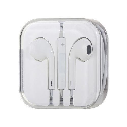Fone de ouvido com microfone e controle de volume para Apple - Branco