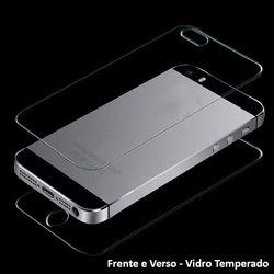 Película para iPhone 5 e 5S de Vidro Temperado - Frente e Verso | Transparente