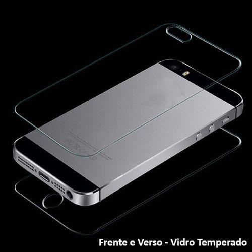 Imagem de Película para iPhone 5 e 5S de Vidro Temperado - Frente e Verso | Transparente