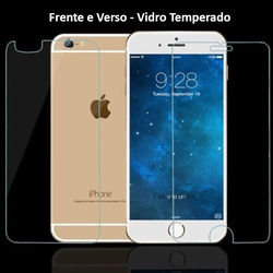 Película para iPhone 6 e iPhone 6S de Vidro Temperado - Frente e Verso | Transparente