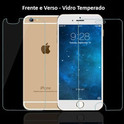 Película para iPhone 6 Plus e iPhone 6S Plus de Vidro Temperado - Frente e Verso | Transparente