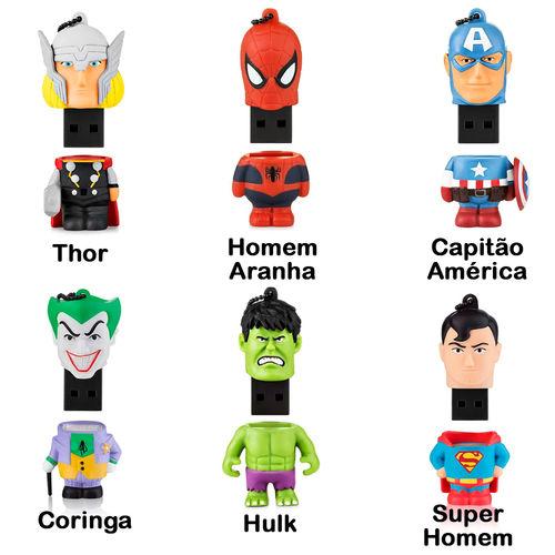 Imagem de Pen Drive 8GB - Super Heróis   Personagens