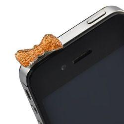 Plug Pingente Lacinho para Proteção Contra Poeira 3,5mm - Amarelo