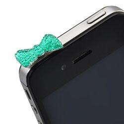Plug Pingente Lacinho para Proteção Contra Poeira 3,5mm - Azul
