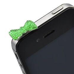Plug Pingente Lacinho para Proteção Contra Poeira 3,5mm - Verde