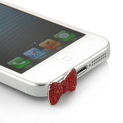 Plug Pingente Lacinho para Proteção Contra Poeira 3,5mm - Vermelho