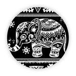 Pop Socket - Elefante Mosaico | Preto