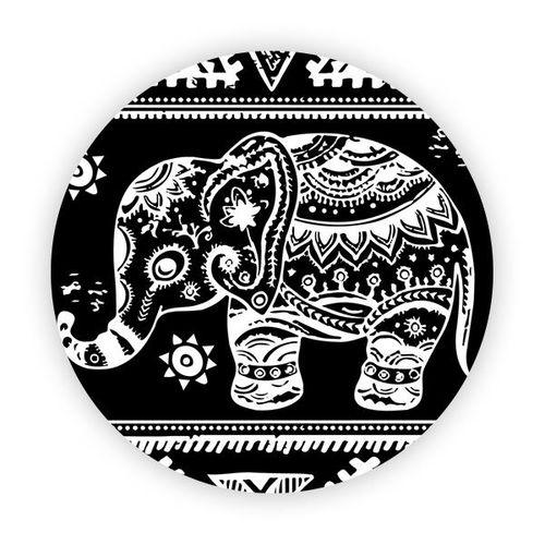 Imagem de Pop Socket - Elefante Mosaico | Preto