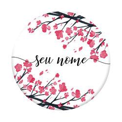 Pop Socket - Flor de Cerejeira | Com Nome Manuscrito