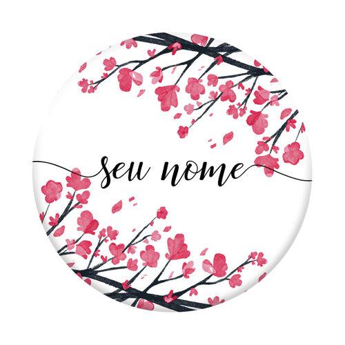 Imagem de Pop Socket - Flor de Cerejeira | Com Nome Manuscrito