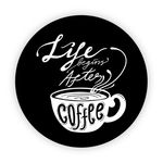 Pop Socket - Life Begins After Coffee | Preto