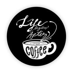Pop Socket - Life Begins After Coffee | Preto