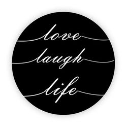 Pop Socket - Love, Laugh, Life | Preto