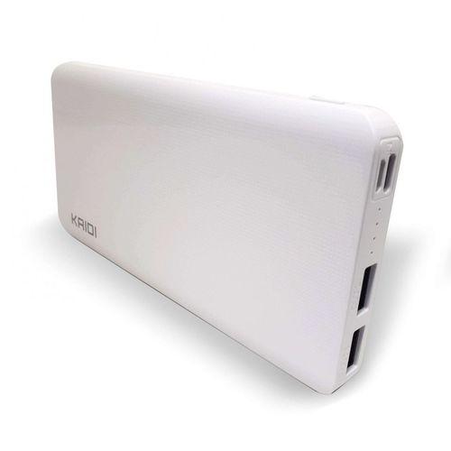 Power Bank Bateria Extra Portátil 10.000mah - KD-168 Kaidi | Branco