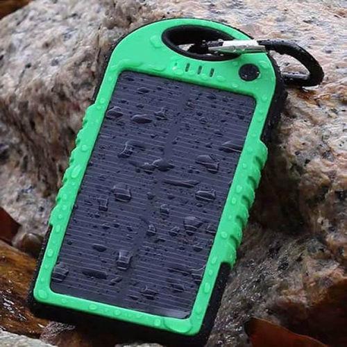 Power Bank Solar Bateria Extra Portátil 8000mAh