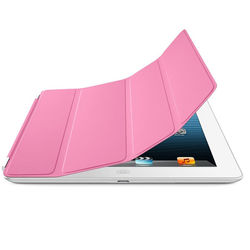 Smart Cover de Poliuretano para iPad Air 1 e Air 2 - Rosa