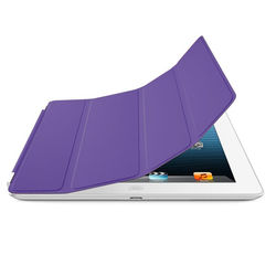Smart Cover de Poliuretano para iPad Air 1 e Air 2 - Roxa