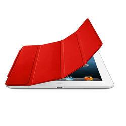 Smart Cover de Poliuretano para iPad Air 1 e Air 2 - Vermelha