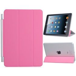 Smart Cover para iPad Mini 1, 2 e 3 de Poliuretano - Rosa