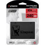 SSD Kingston A400 240GB - 500mb/s para Leitura e 350mb/s para Gravação