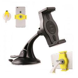 Suporte Veicular 2 em 1 - Ventosa para vidro e Ar Condicionado para Smartphone - KinGo | Preto
