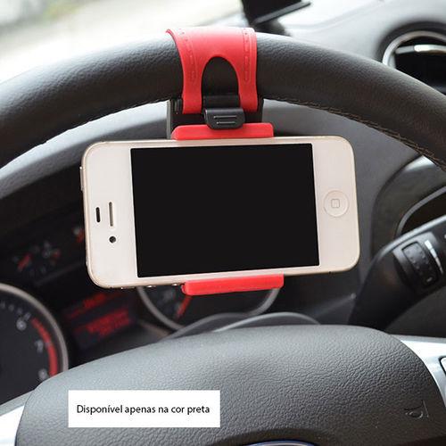 Imagem de Suporte Veicular de Volante para Smartphone - Preto