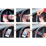 Suporte Veicular de Volante para Smartphone - Preto