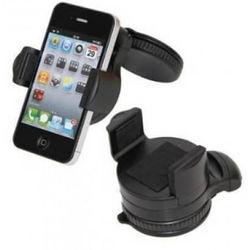 Suporte Veicular Smartphone, GPS E PDA Ajustável No Pára-Brisa Do Automóvel - Preto
